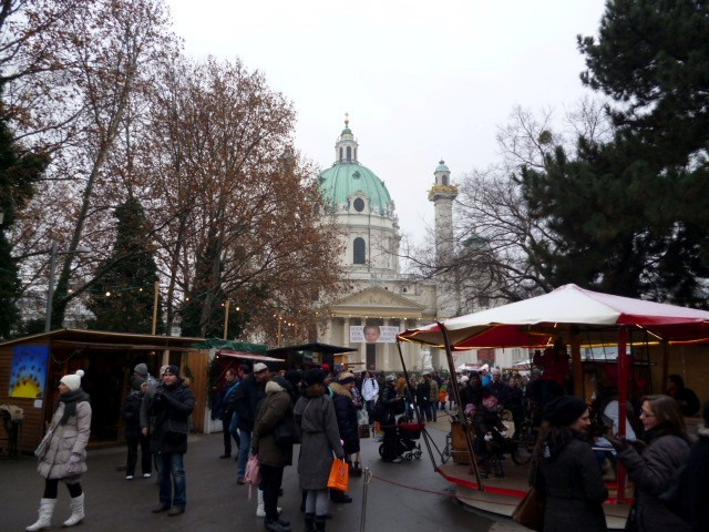 Karlskirche mercatini di natale, vienna