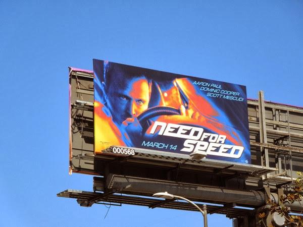 Need For Speed movie billboard
