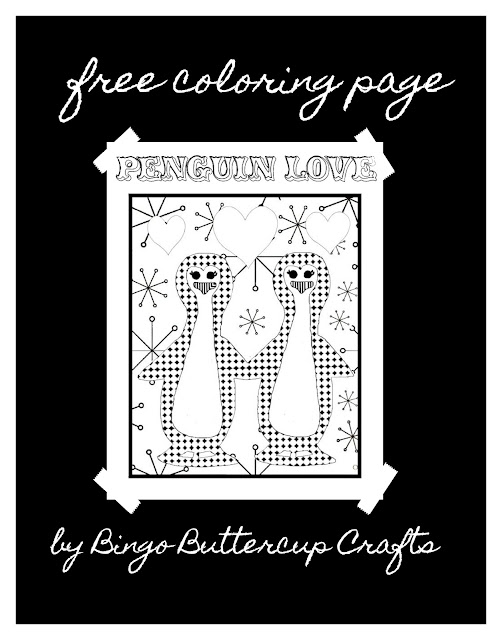 Free & Cute Penguin Coloring Page by Bingo Buttercup