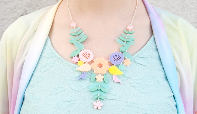 tatty devine, mexican embroidery, pastel