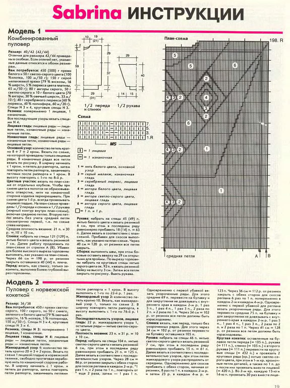 Схемы вязания вкруговую