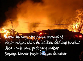Pasar Rakyat terbakar