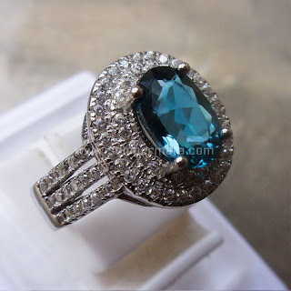 Cincin Batu Permata London Blue Topaz - SP58
