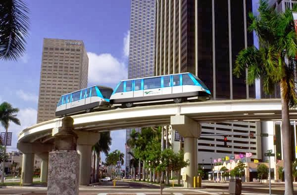 Metromover Miami Downtown Transporte