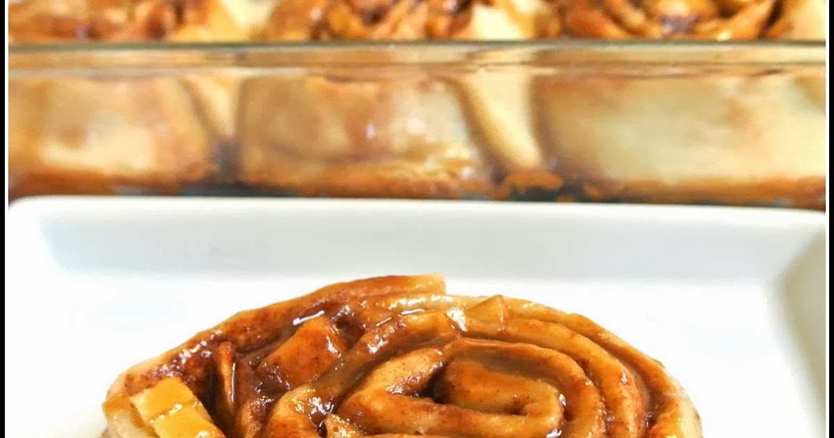 Gourmet Cooking For Two: Caramel Apple Cinnamon Rolls