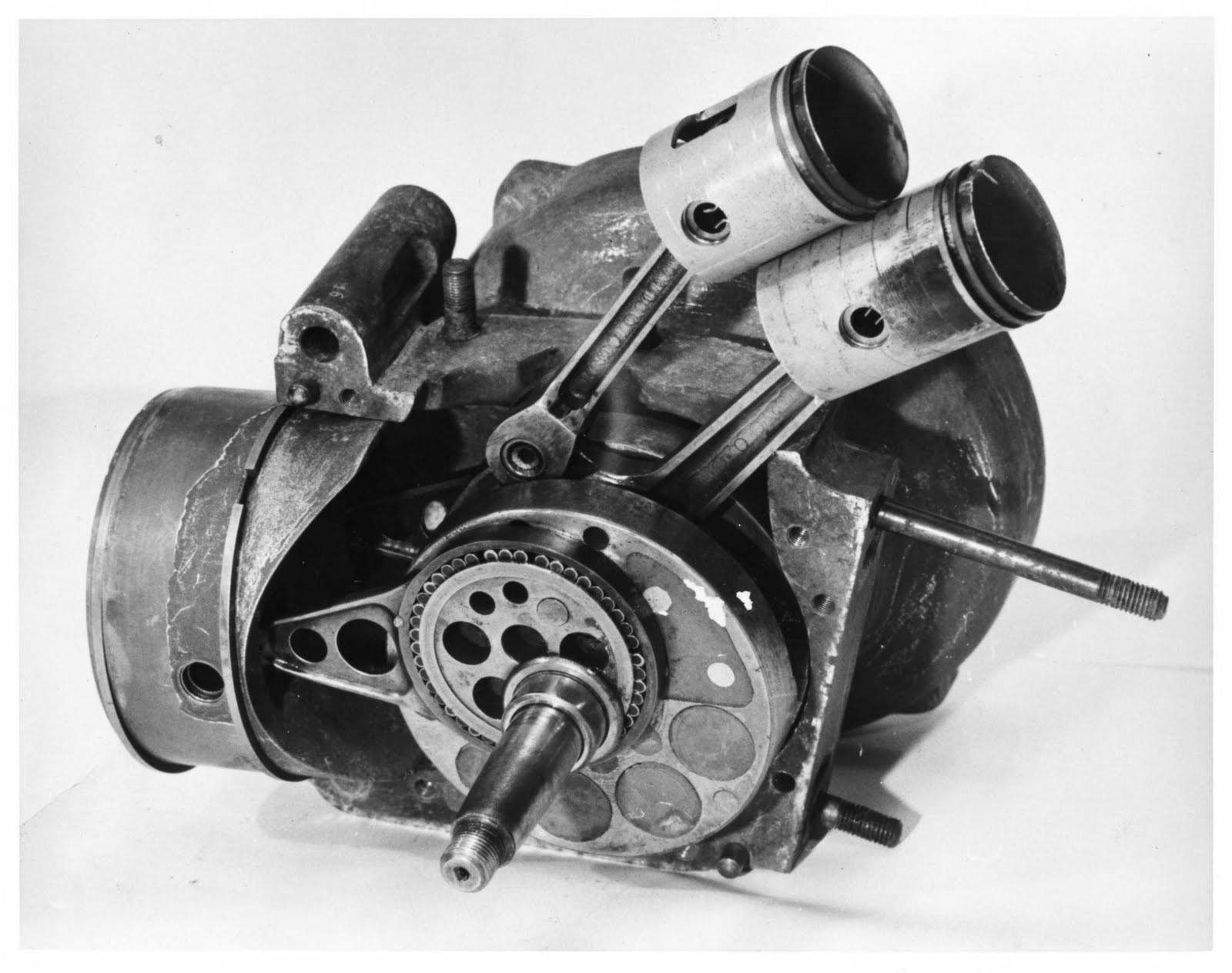 DKW supercharged two stroke engine