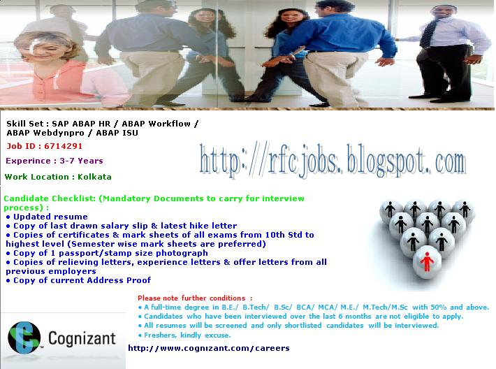 Sap Engine Referral Walkin Interview Cts In Kolkata