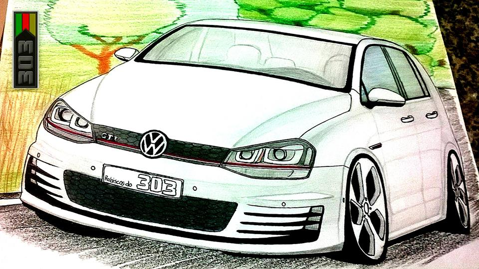 volkswagen golf gti canhÃo ismael desenhos