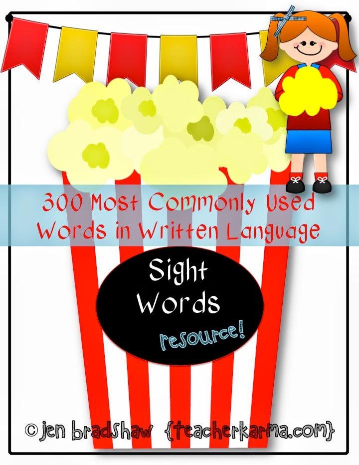 Sight word resources ~ FREE!  TeacherKarma.com