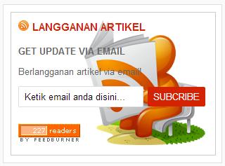 Cara membuat widget Feedburner/ kotak berlangganan artikel di Blog
