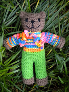 Seamless Crochet Mother Bear