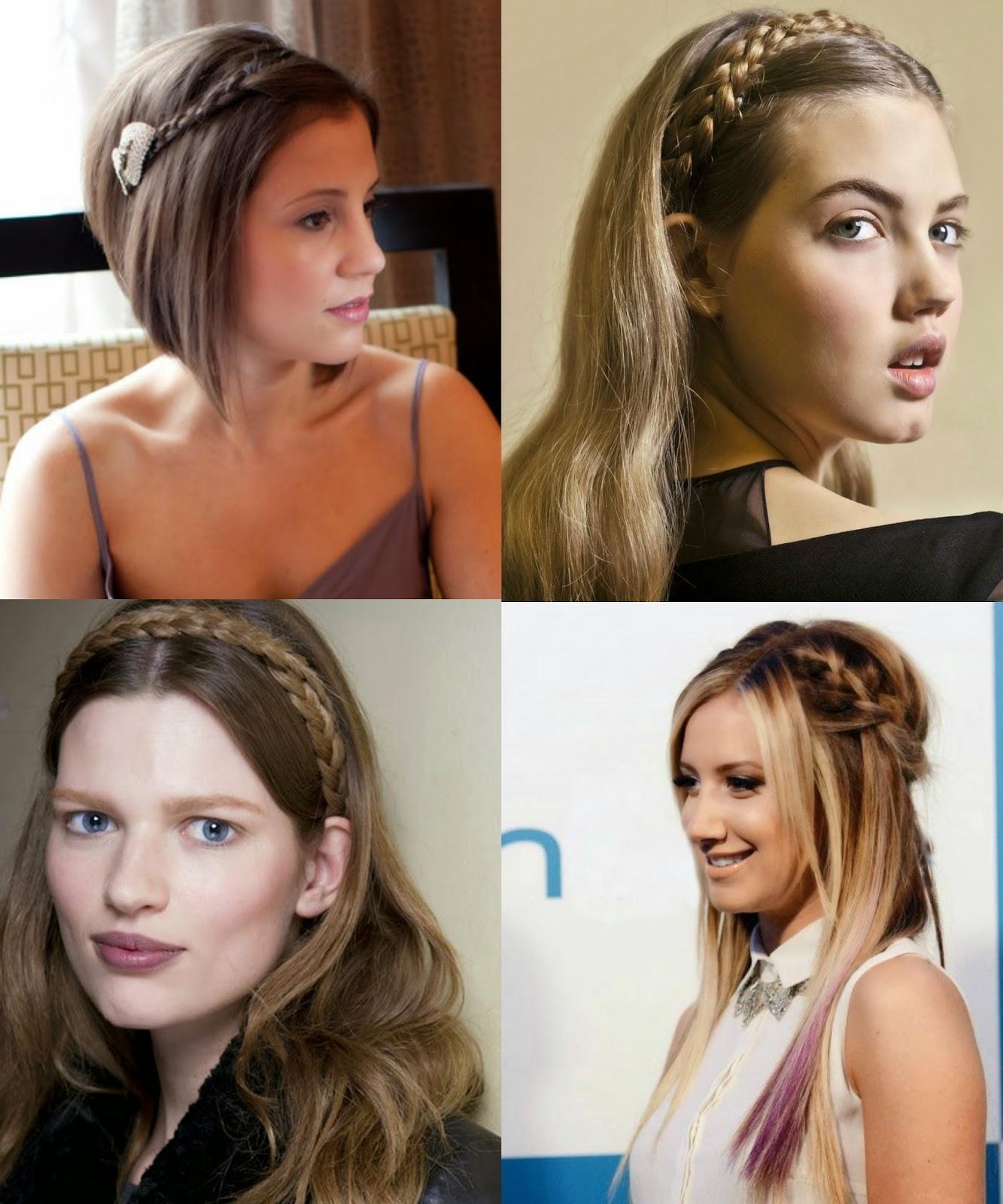 Peinados Con Flequillo Y Trenzas El Flequillo Hacia El Costado Es - Peinados-para-el-flequillo