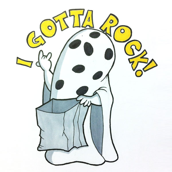 Peanuts I Gotta Rock! Great Pumpkin Halloween IAMO Sketch