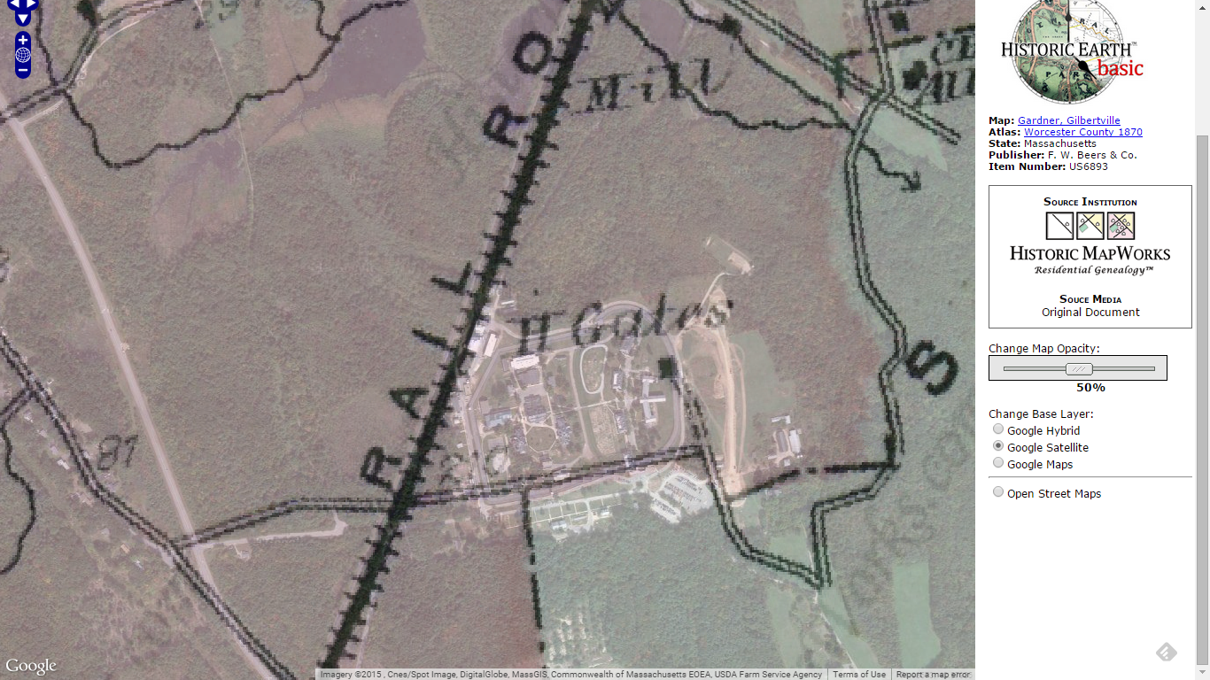 GeneaMusings Finding The Simon Gates Home Farm Using - Current google maps satellite