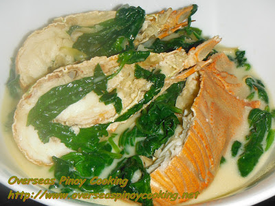 Ginataang Pitik with Spinach
