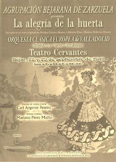 Cartel anunciador de la Zarzuela de la ABZ