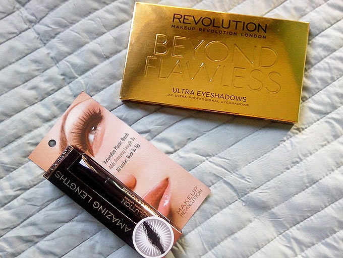 Birthday Haul | Makeup Revolution Amazing Length Mascara,Makeup Revolution Beyond Flawless Palette
