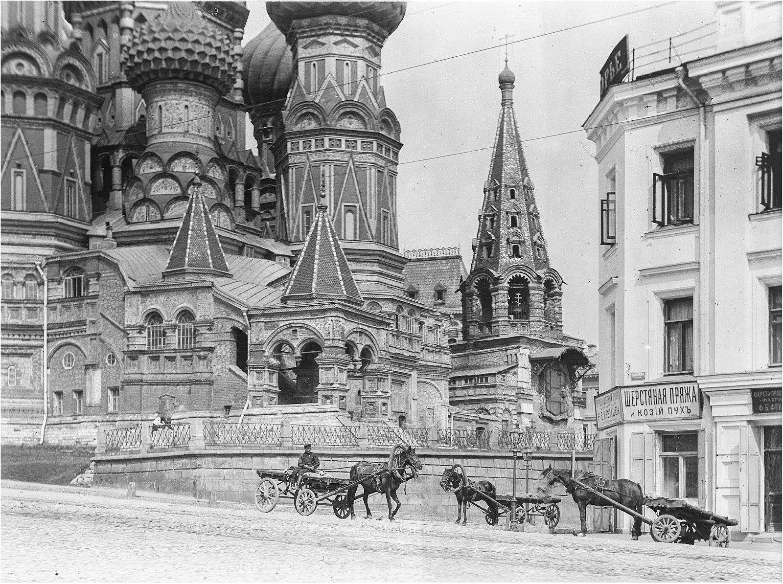 Собор Василия Блаженного, вид с юга.