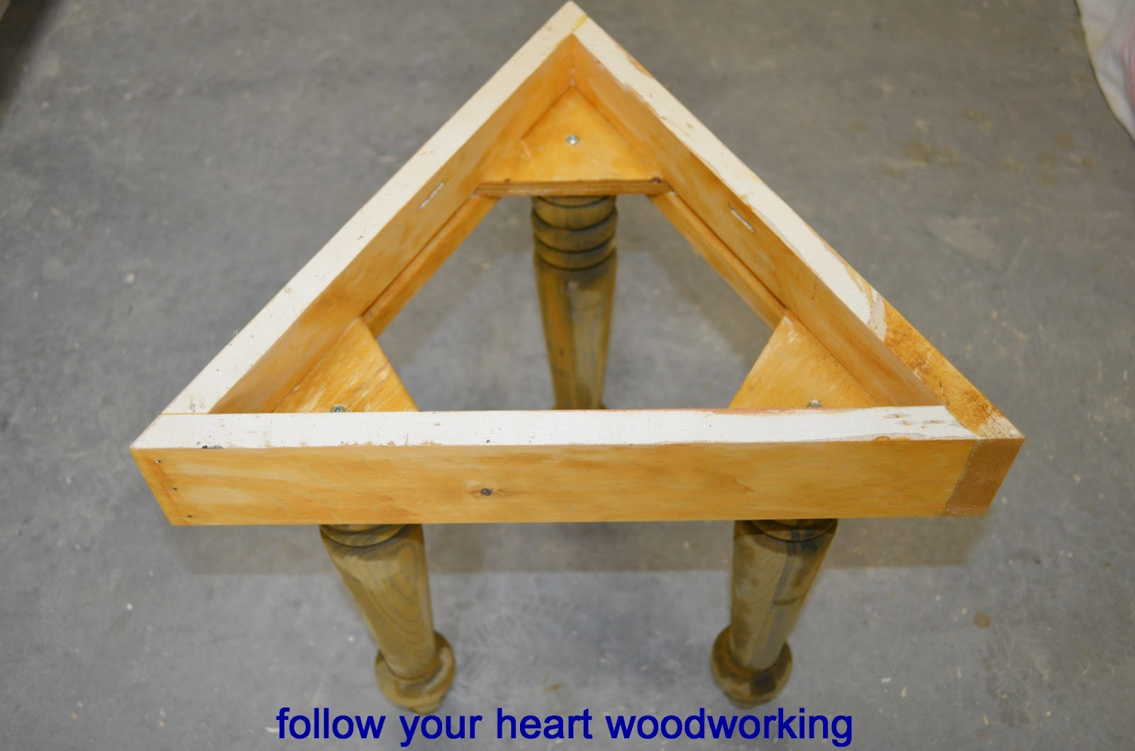 Follow your heart woodworking making a side table my own for Make your own end table