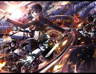 Attack on Titan Shingeki no Kyojin Eren Jaeger Mikasa Ackerman Anime Sword Blade HD Wallpaper Desktop PC Background