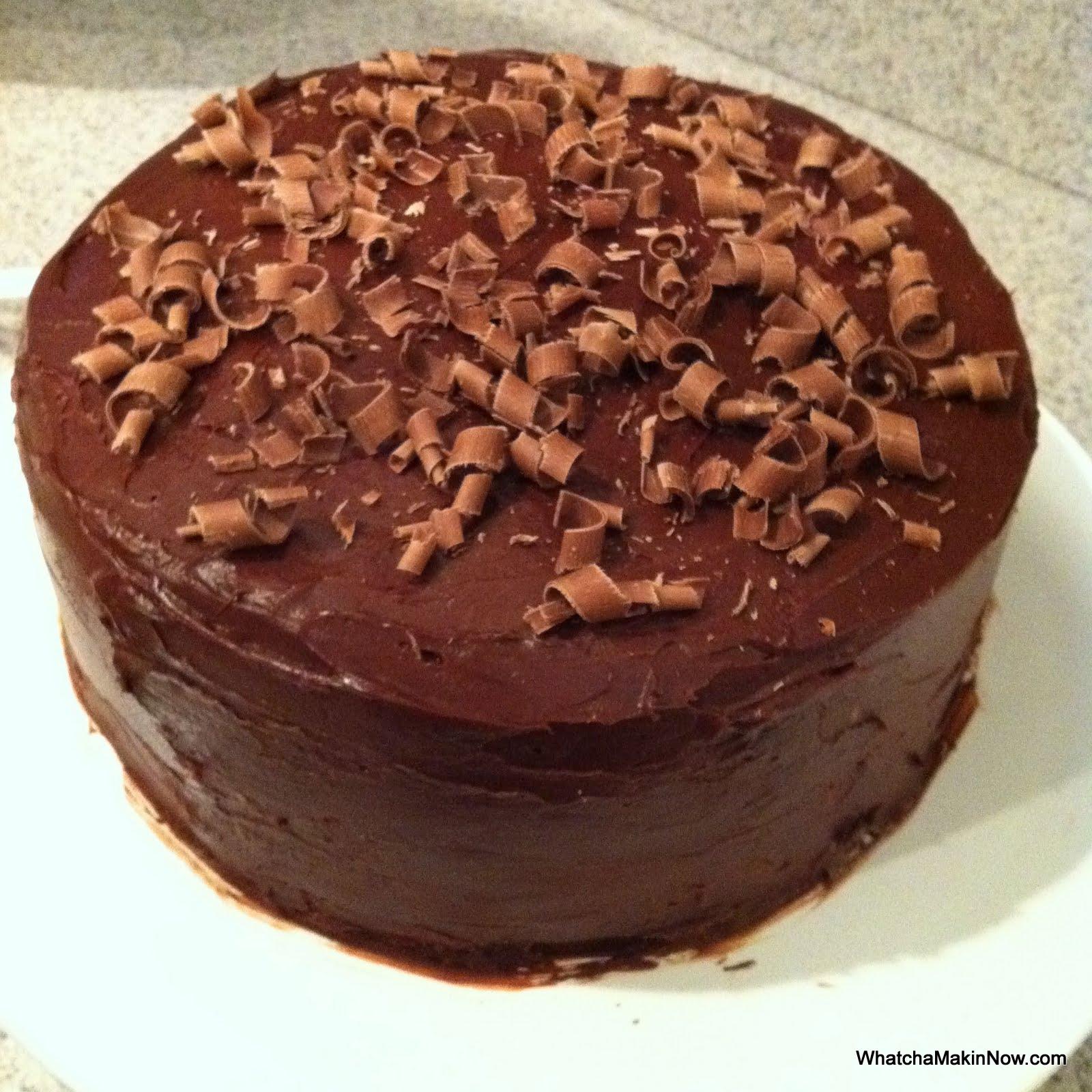 Whatcha Makin Now Chocolate Cheesecake Cake from Recipe Girl