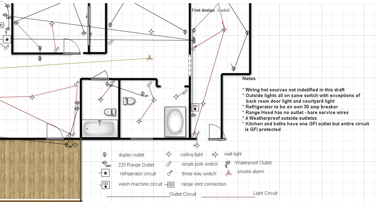 Lake House Renovation Project  Electrical Layout Plan
