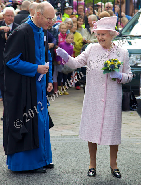 HRH The Quuen with The Very Reverend Michael Tavinor, Dean of Hereford Cathedral. Photo © Jonathan Myles-Lea