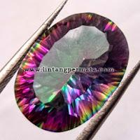 Batu Permata Natural Mystic Quartz  Rainbow  Quartz  Asli