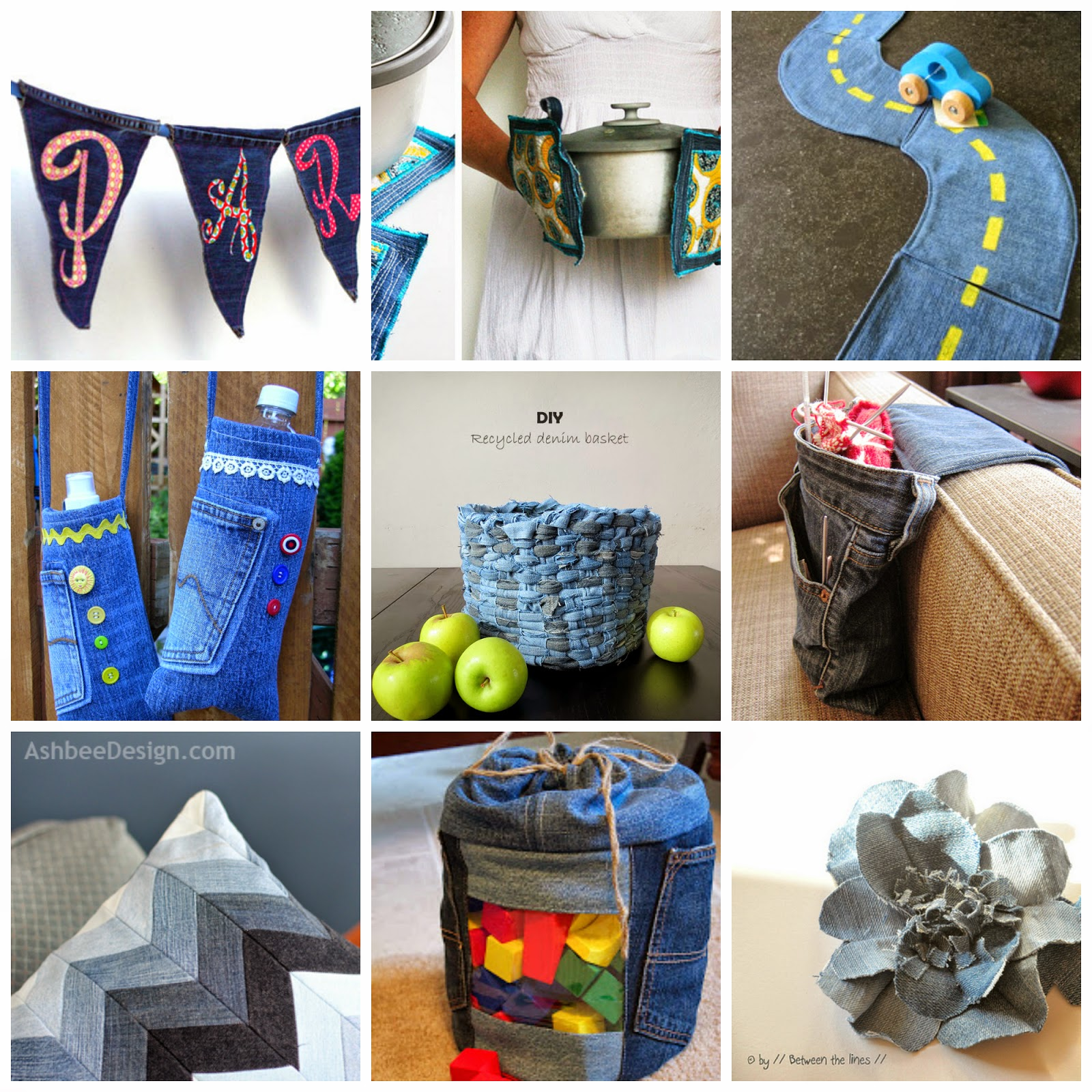 Ways to recycle old jeans - You Can Find The Links Below