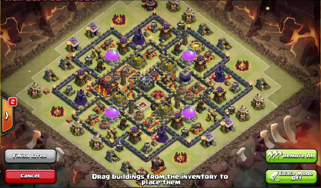 Clan war base design quot air sweeper update quot from th6 to th10 2015