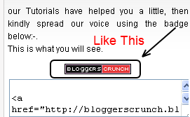 How to Add Support or Promote Us Badge in Blogger Site