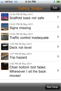 Safety Snaps iPhone App