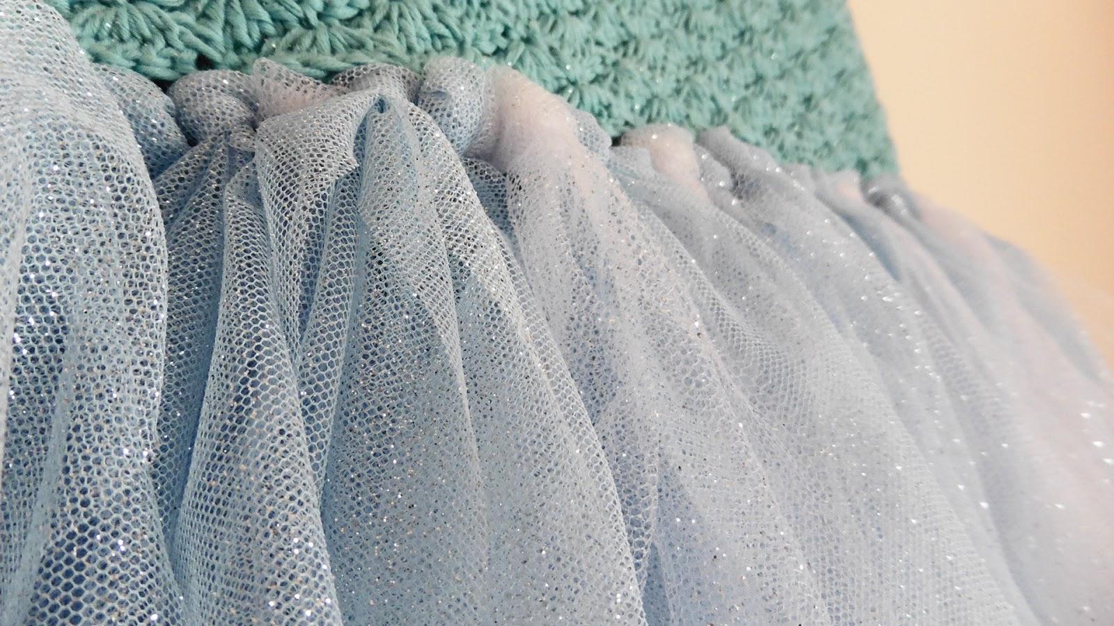 tutu vestido tul crochet