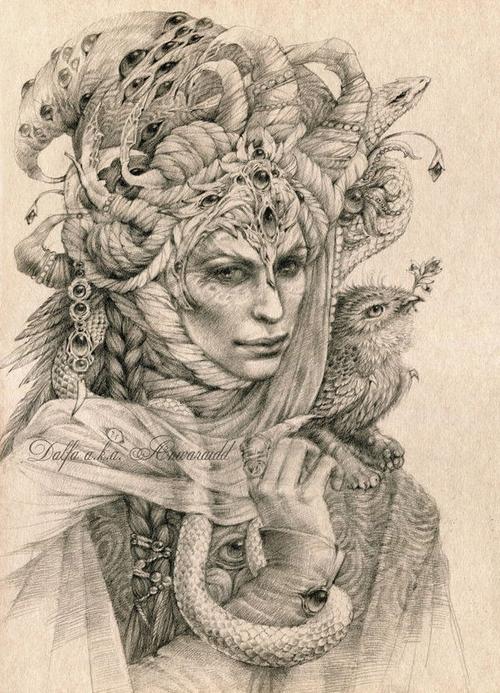 15-Master-of-Dreams-Olga-Anwaraidd-Drawings-Fantasy-Portraits-Imaginary-Characters-www-designstack-co