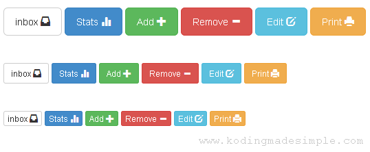 How To Create Custom Twitter Bootstrap Buttons With Icons