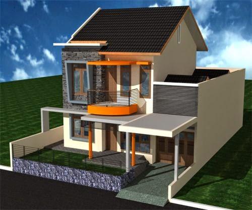 Rumah Minimalis Type 45 Desain Modern dengan 2 Lantai & Interior Eksterior Rumah Minimalis: Rumah Minimalis Type 45 Desain ...