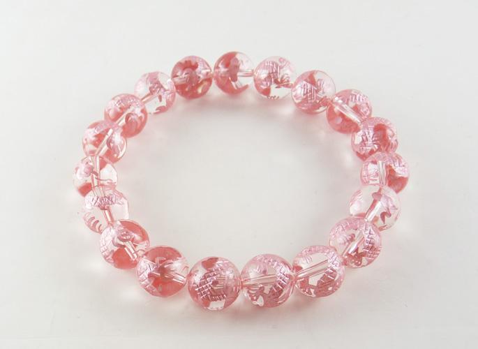 ピンクドラゴン水晶 シールドブレスレット