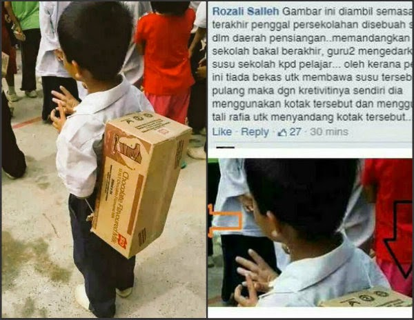Malaysisches budak sekolah menengah dalam kelas