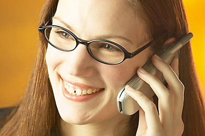 woman on telephone smiling