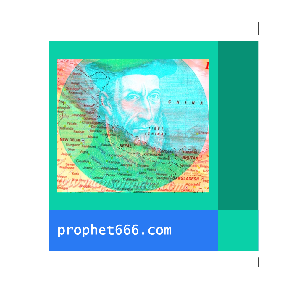 Prophet666: Image of Nostradamus visualising India
