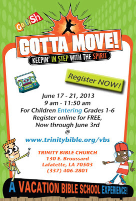 gotta move vbs vacation bible school trinity bible church