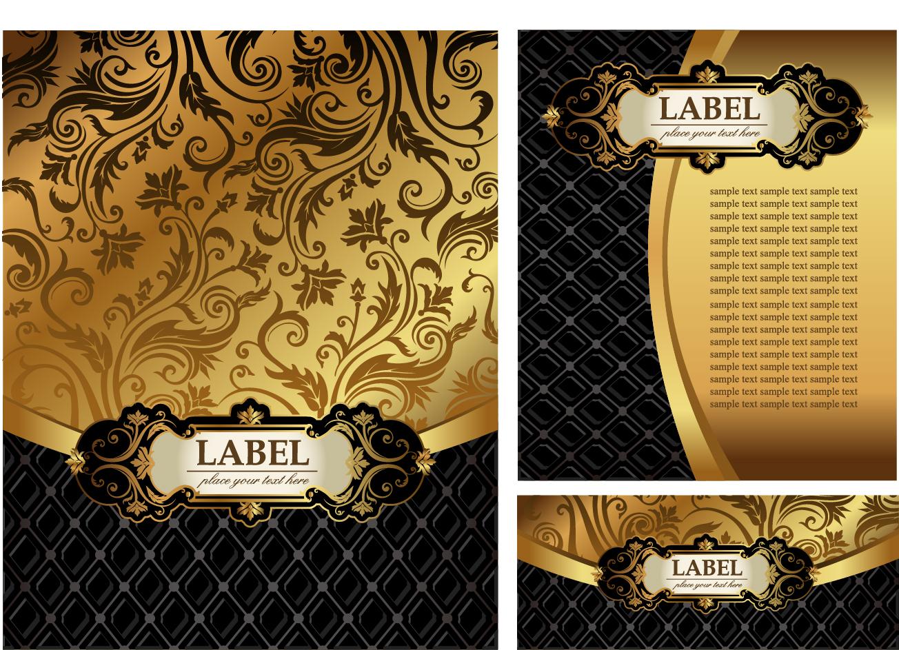 豪華な装飾の表紙見本 Luxury Decorative Covers イラスト素材