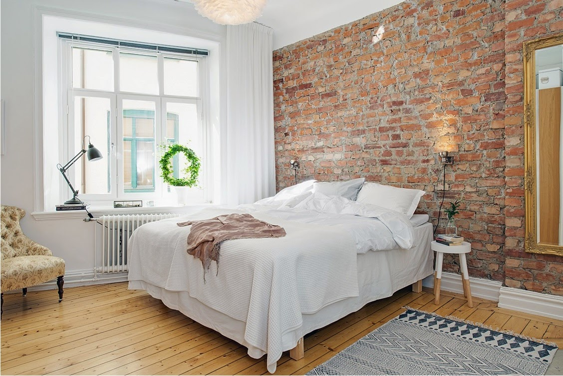 My Bohemic home Tegelv?gg i k?k, vardagsrum och sovrum