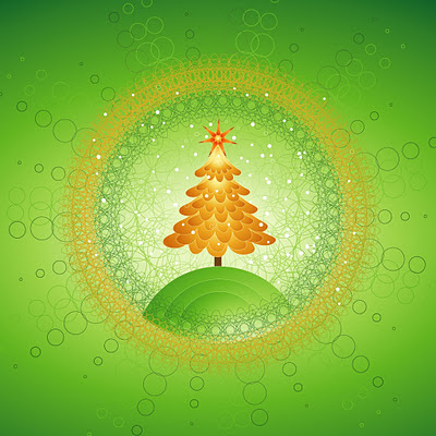 Beautiful Christmas tree design download free wallpapers for Apple iPad