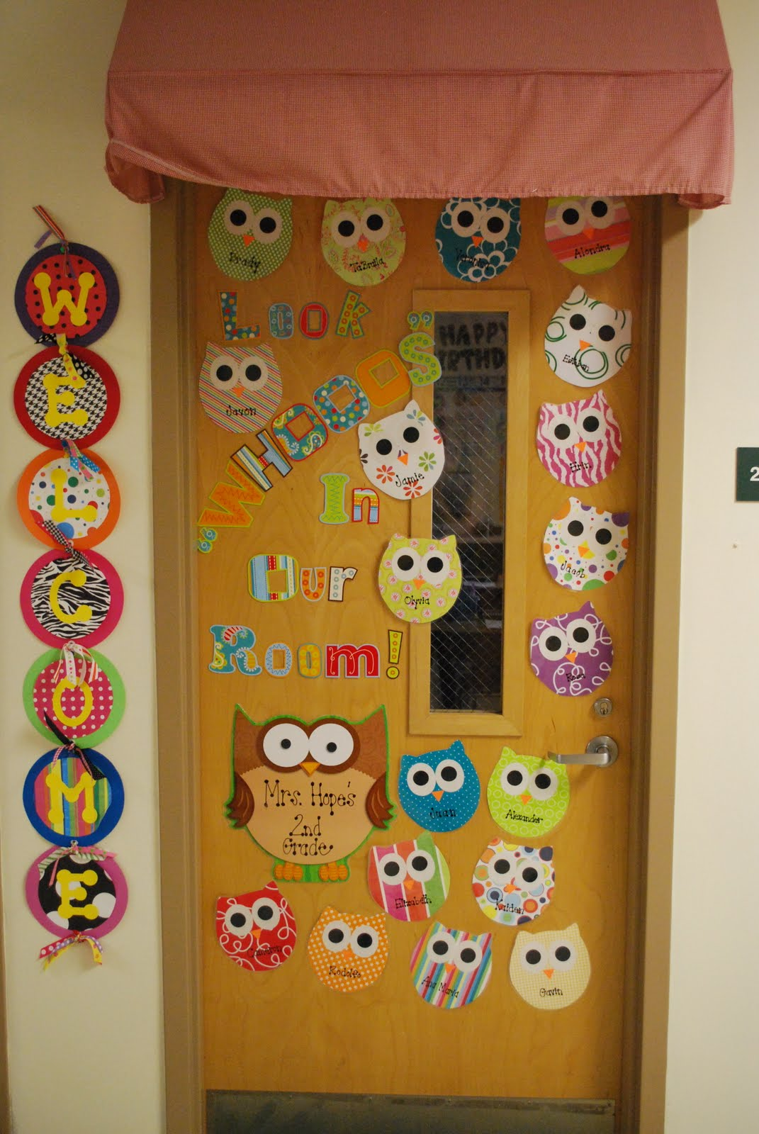 Classroom Door Decoration Ideas Welcome Back : Second grade nest making scrapbook owls