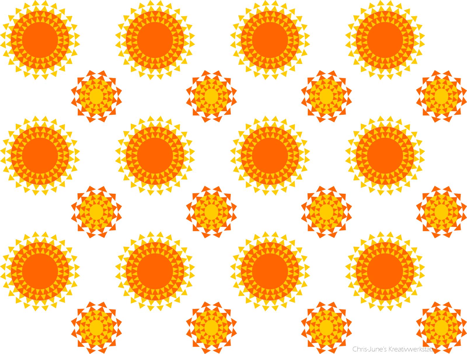 Sonnenmuster aus Kreisen und Dreiecken