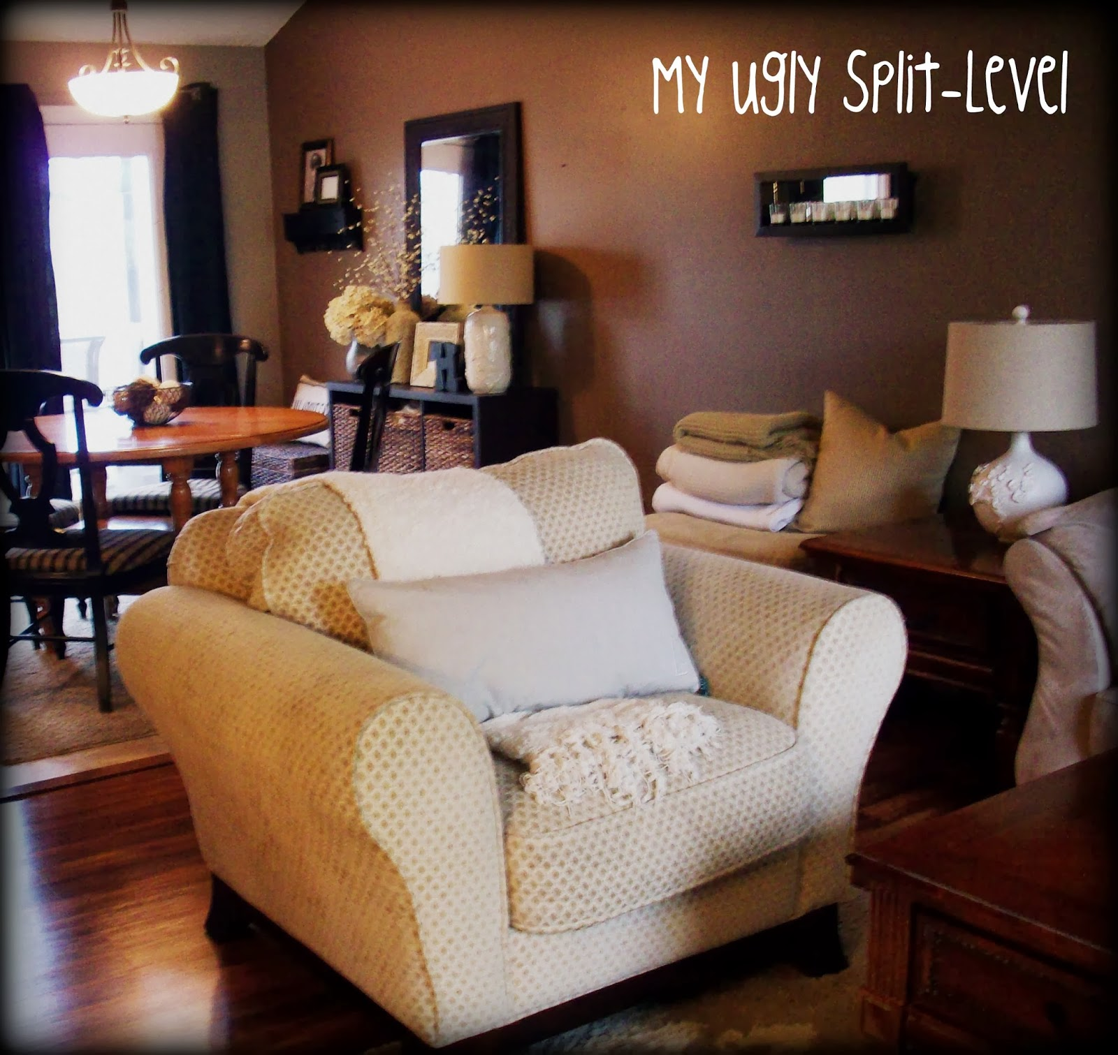 My Ugly Split Level The Living Room