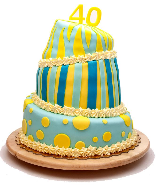 Trinadstropna torta / Three tier cake front