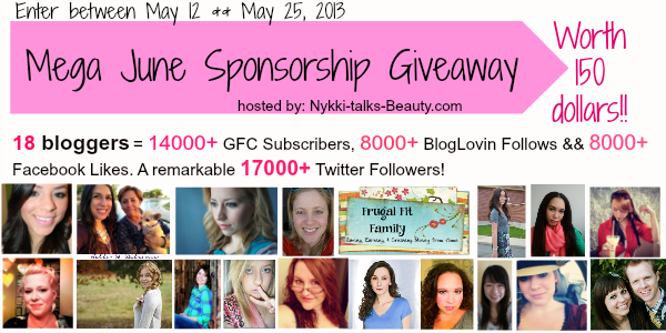 Mega June Sponsorship Giveaway