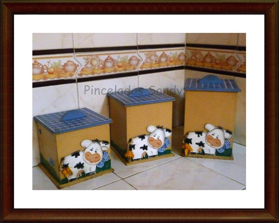 Art country trio de cajas para cocina - Cajas para cocina ...